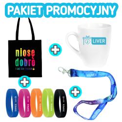 Pakiet promocyjny: TORBA + OPASKA + KUBEK + SMYCZKA