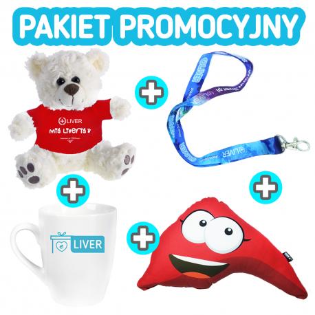 Pakiet promocyjny: MIŚ + SMYCZKA + KUBEK + PODUSZKA