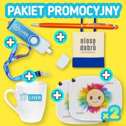 BESTSELLER Pakiet promocyjny: TORBA + 2x OSŁONKA + SMYCZKA + KUBEK + DŁUGOPIS + PENDRIVE