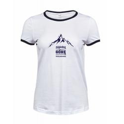 Koszulka damska biała z granatową lamówką